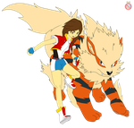 CM: Pokemon OC and Arcanine by shadowhatesomochao