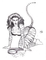 Tigra Pin-Up by MichaelPowellArt