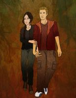 Katniss and Cato by Art-Gem