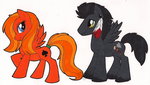 Red and Marius Ponies by StangWolf