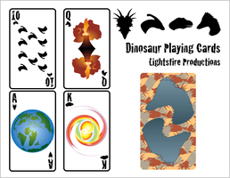 Dinosaur Playing Cards by Lightsfire