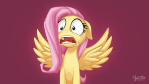 Fluttershy's Reaction 16:9 by mysticalpha