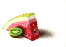 Watermelon and Kiwi by thoraxe