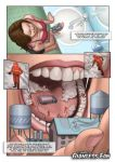 Micros Brushing a Girl's Teeth by giantess-fan-comics