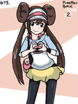 Pokemon Black/White 2 Female Trainer by KitsuneInari