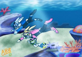 (Pixelated AT) Diving Buddies by AhO4464