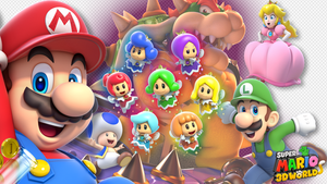 1920 x 1080 Super Mario 3D World Wallpaper by MaxiGamer