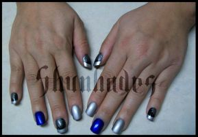 Halloween 2012: Nails by Shunhades