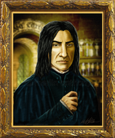 HP:Headmaster Snape Portrait by quantum-witch