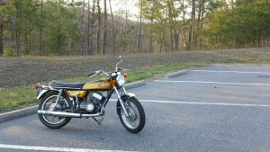 1972 Yamaha DS7 2 Stroke Twin by p38lightning7