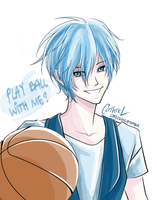 Kuroko Wants to Play Ball by germanmissiles