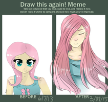 Human Fluttershy: Before and After by Blossomdash