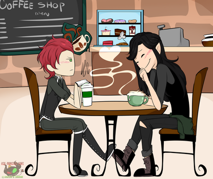 AT Comm: Coffe Shop date by Ask-Monster-King