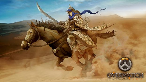 Ana - Overwatch (Medieval/Fantasy series) by nicopower5000