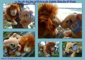 14 Inch Animal Friends Adult Simba And Nala by DoloAndElectrik