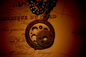 New Golden Pendant with Gem by turnerstokens