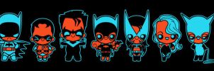 chibi bat family by marisolivier