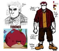 Angry Birds (Toons) : Terence Humanization by MemQ4