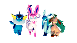 eeveelutions DL NOT RIPS by Ichigimy