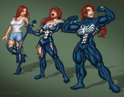 MJ Venom Transformation by rag-man by Cyberphoenix89