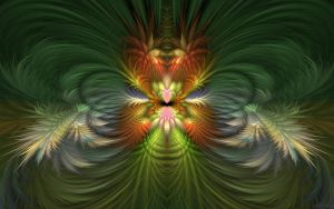 Abstract Orchid by HBKerr