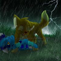 Point Commission: Shield You from the Rain by TwistedZepher