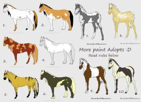 Closed- Free Paint Horse adoptables! by Filly8