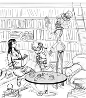 OP - Library by dragon-64