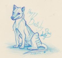 Lucky paw birthday by Lunewen