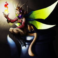 Steampunk fairy - coloured by coyotepack