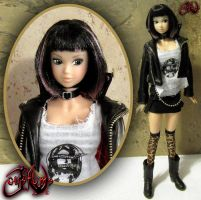 Harbinger Maeko Custom Doll by jvcustoms