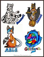 MiDFur Badges by Key-Feathers