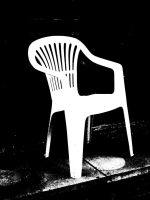 chair with white board effect by sifreeman