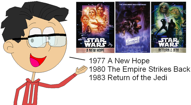 MikeEddyAdmirer89 with 1st Star Wars Movies by GuiherCharly