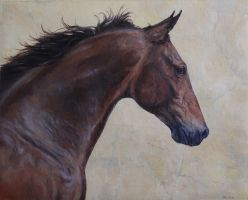 Oil Painting - Horse by MeWannaLearn