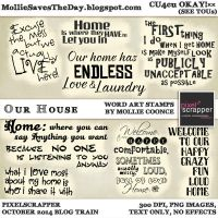 Our House Word Art Stamps by Mollie-Coonce