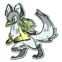 CLOSED Bipedal Griffinthingy - Adoptvent Day 14 by Taiinty
