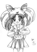 ChibiUsa - pencil drawing by EvyLeeArt