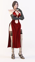 Ada Wong Dress Render by Ada-Momiji-Forever