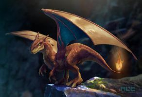 Charizard (realistic version) by DanteFitts