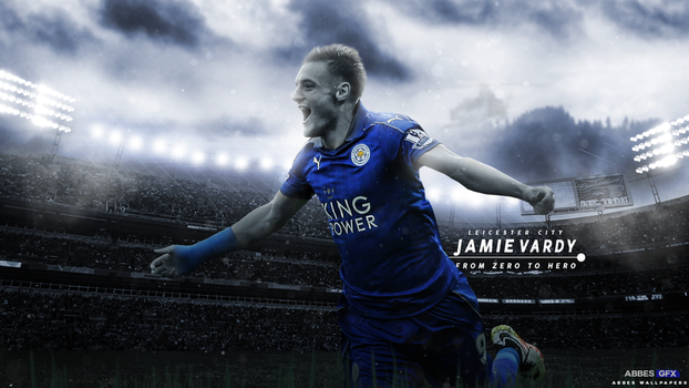 Jamie Vardy Wallpaper 2016/17 by Abbes17