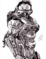 Halo 4: Master Chief by CaptainDragonSlayer6