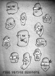 FUNNY FACES free.vectors by archetype-it