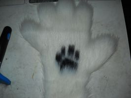 Hand paw with print by CrazyViper
