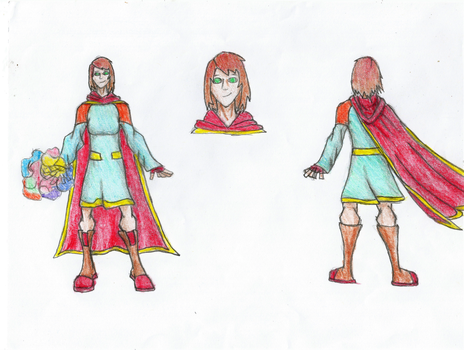 character design contest: Magigold for Briar Fire by Newworlds117