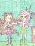 Believix Flora And Equestria Girl Fluttershy by MyMelodyOfTheHeart