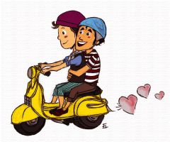 Klaine on Vespa by lalla17