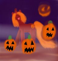 Jack-o- lantern pony by WoefulWriters