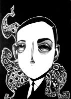H.P.Lovecraft by KaterinaChadoulou