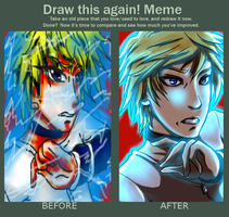 Before and after meme by Hakadirune
